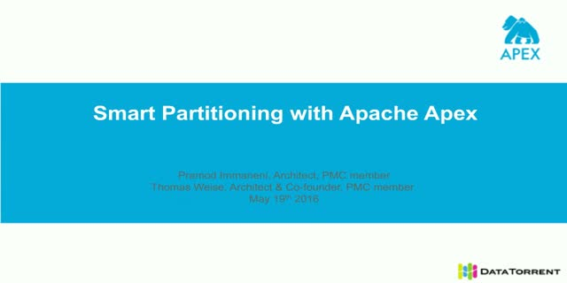 Smart Partitioning with Apache Apex
