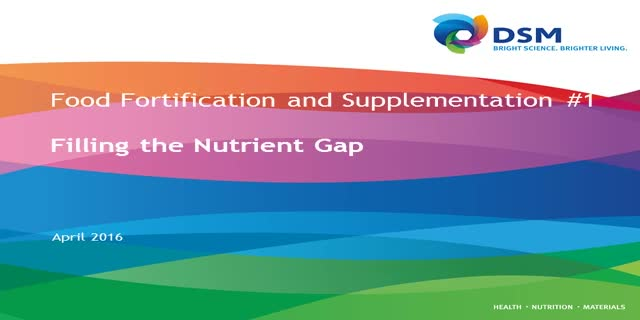 Food fortification and supplementation part one: filling the nutrient gap