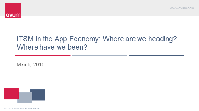 ITSM in the App Economy. Where are we headed? Where have we been?