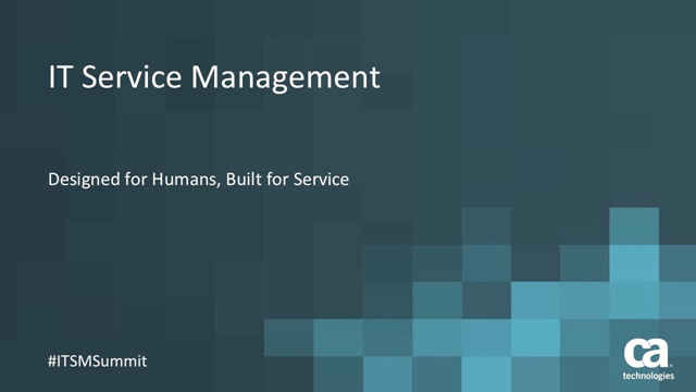 The New ITSM: Designed for Humans. Built for Service.