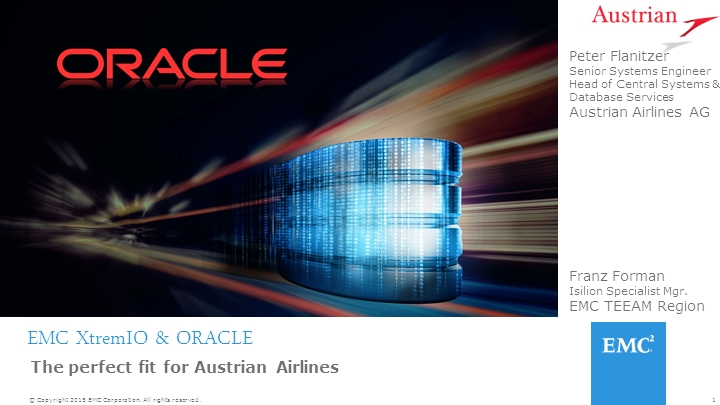 "xTremIO und Oracle – ""The Perfect Fit"""