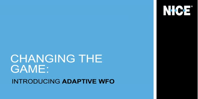 APAC - Exclusive Look at the New NICE Adaptive Workforce Optimization Solutions