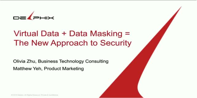 Virtual Data and Data Masking: The New Approach to Data Security