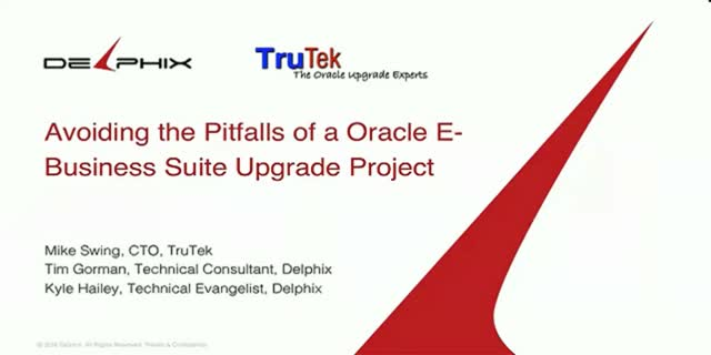 Streamlining Enterprise Software & Application Upgrades with Oracle
