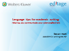 Language tips for academic writing: Helping you communicate your science