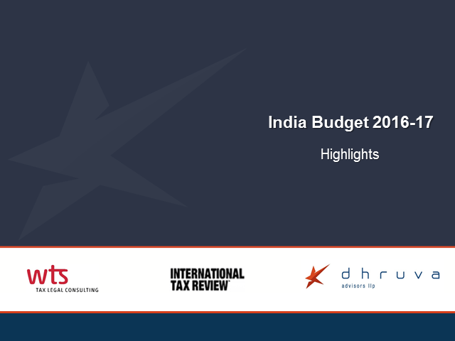 India Budget 2016-17