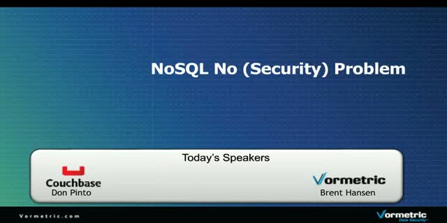 NoSQL – No (Security) Problem