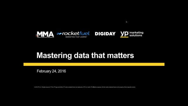 Mastering the Data that Matters