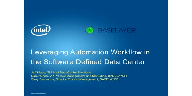 Leveraging Automation Workflow in the Software Defined Data Center