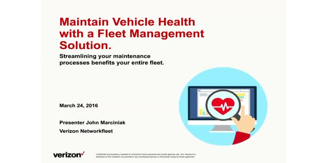 Maintain Vehicle Health with a Fleet Management Solution
