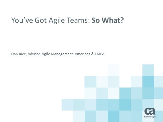 Expand Agile Beyond Teams - 1 PDU