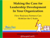 HR Pros: Making the Business Case for Leadership Development