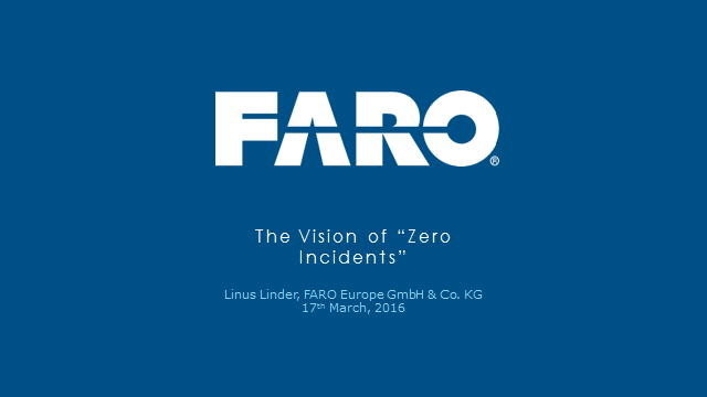 The vision of zero incidents