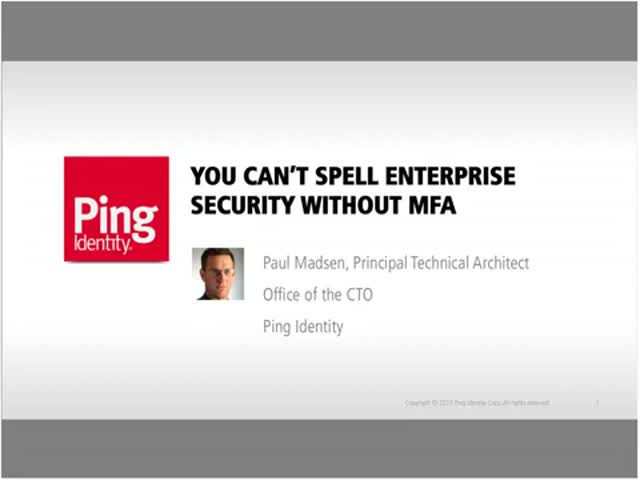 You Can't Spell Enterprise Security Without MFA