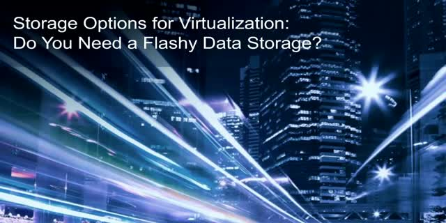 Storage Options for Virtualization: Do You Need a Flashy Data Storage?