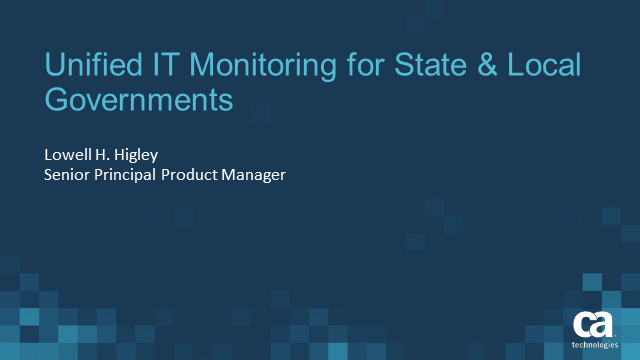 Unified IT Monitoring for State & Local Governments