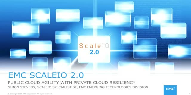 ScaleIO 2.0 Launch: Public Cloud Agility with Private Cloud Resiliency