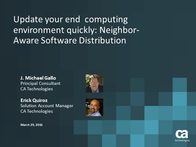 Update End Computing Environment Quickly: Neighbor-Aware Software Distribution