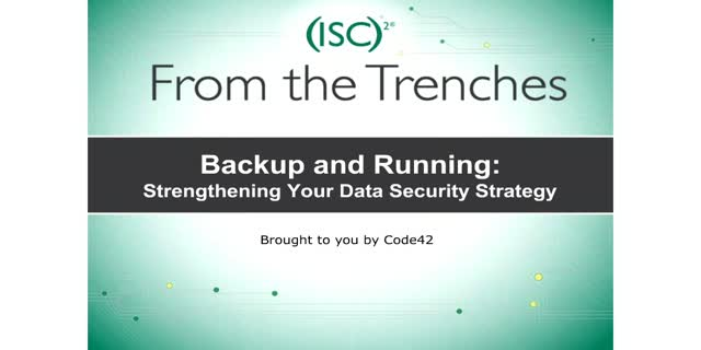 Backup and Running: Strengthening Your Data Security Strategy