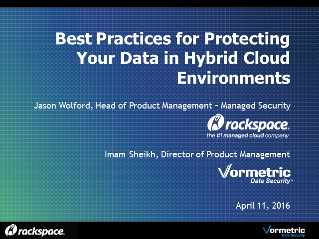 Best Practices for Protecting Your Data in a Hybrid Cloud Environment