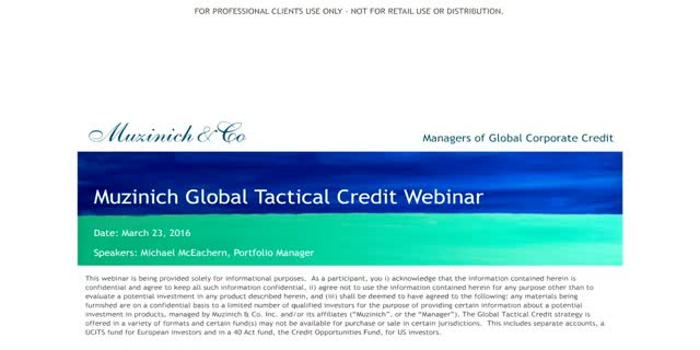 Muzinich Global Tactical Credit Update