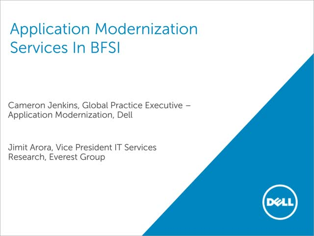 Application Modernization Services in Banking and Finance Industry