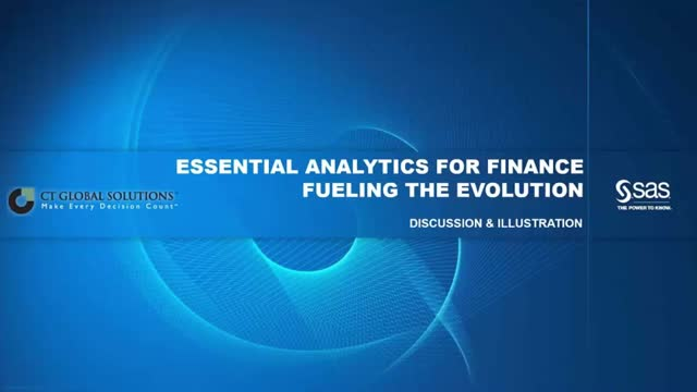 Essential Analytics for Finance: Fueling the Evolution