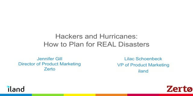 Hackers and Hurricanes: How to Plan for REAL Disasters