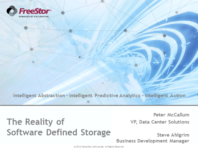 The Reality Of Software Defined Storage