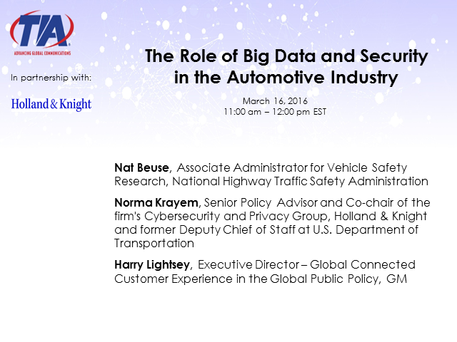 The Role of Big Data and Security in the Automotive Industry