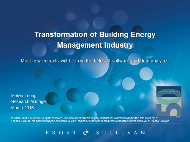 Transformational Trends in the Building Energy Management Solutions Industry