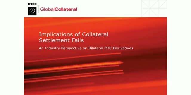 Mitigating the impact of increased collateral settlement fails