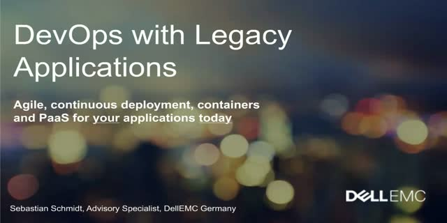 DevOps with legacy applications