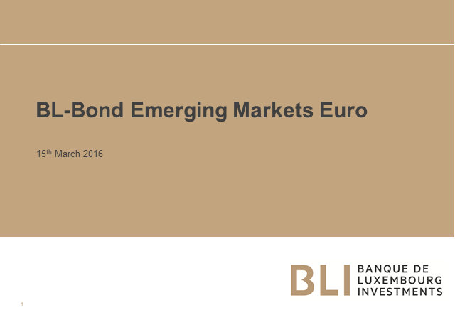 BL-Bond Emerging Markets EUR - a defensive and opportunistic approach