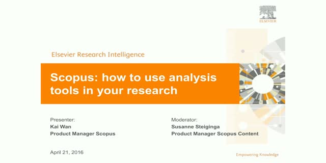 Scopus: How to use analysis tools in your research