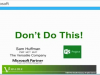 Microsoft Project - Things Not to Do!