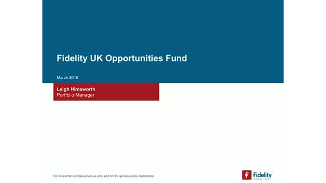 The UK opportunity