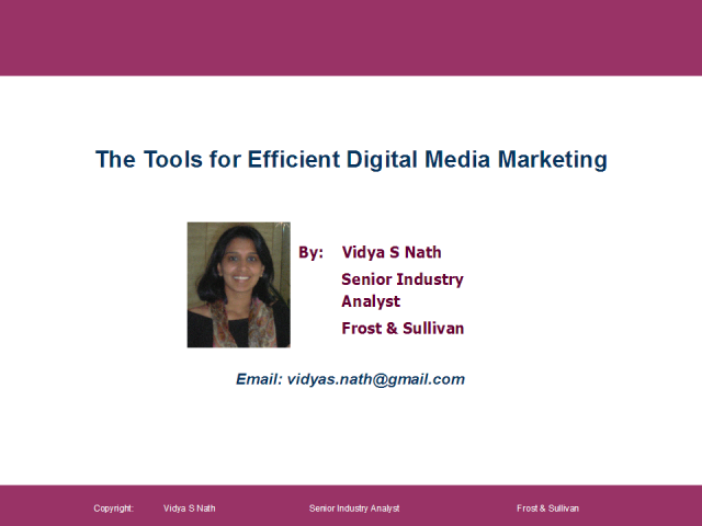 The tools for efficient Digital Media Marketing