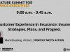Customer Experience in Insurance: Insurer Strategies, Plans, and Progress