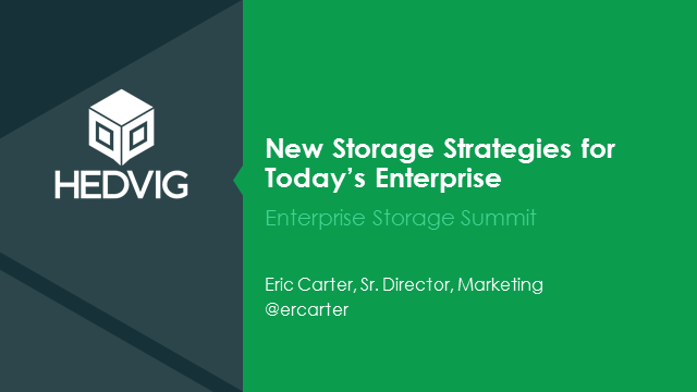 New Storage Strategies for Today's Enterprise