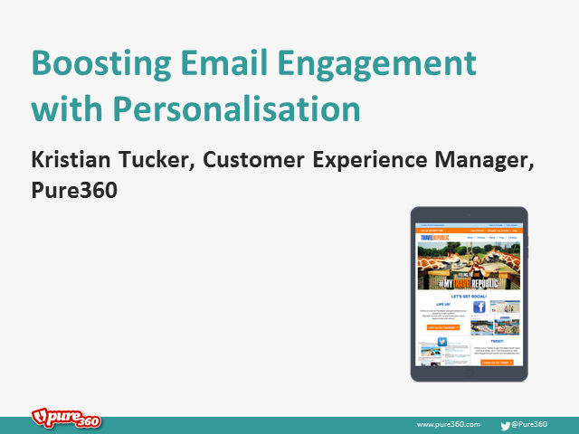 Boosting email engagement with Personalisation