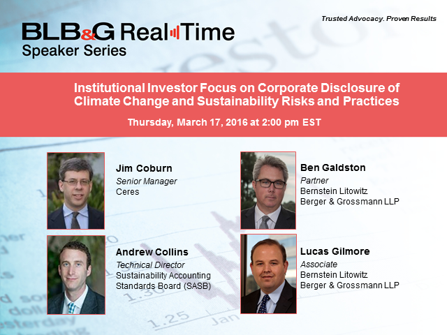 Corporate Disclosure of Climate Change and Sustainability Risks and Practices