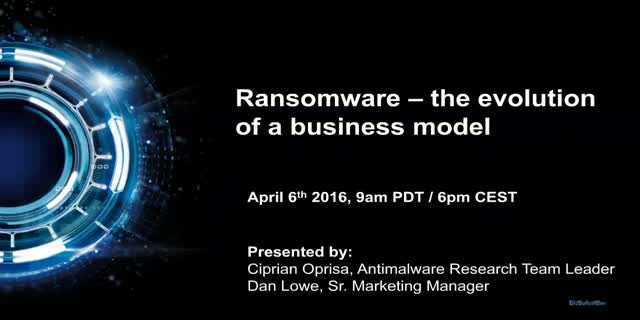 Ransomware – the evolution of a business model