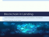 Part 3: Blockchain in Lending --  An end to traditional banks?