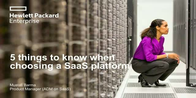 Five things to know when choosing a SaaS platform
