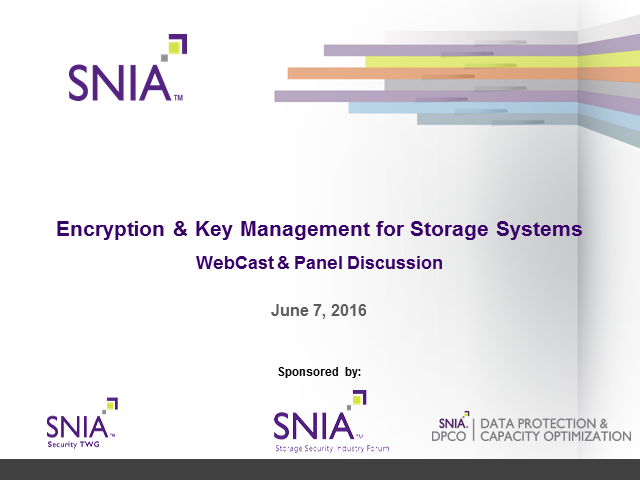 Encryption & Key Management for Storage Systems