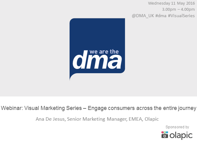 Webinar: Visual Marketing Series - Engage consumers across the entire journey