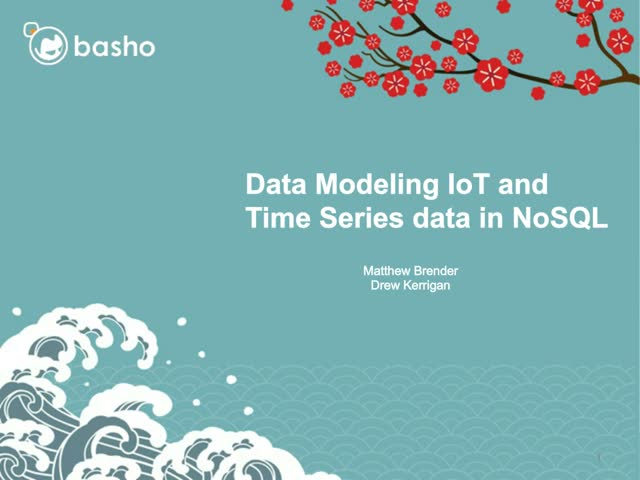 On-Demand Webinar: Data Modeling IoT and Time Series Data
