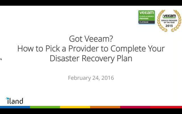 Got Veeam? How to Pick a Provider to Complete Your Disaster Recovery Plan