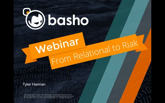 On-Demand Webinar: From Relational to Riak